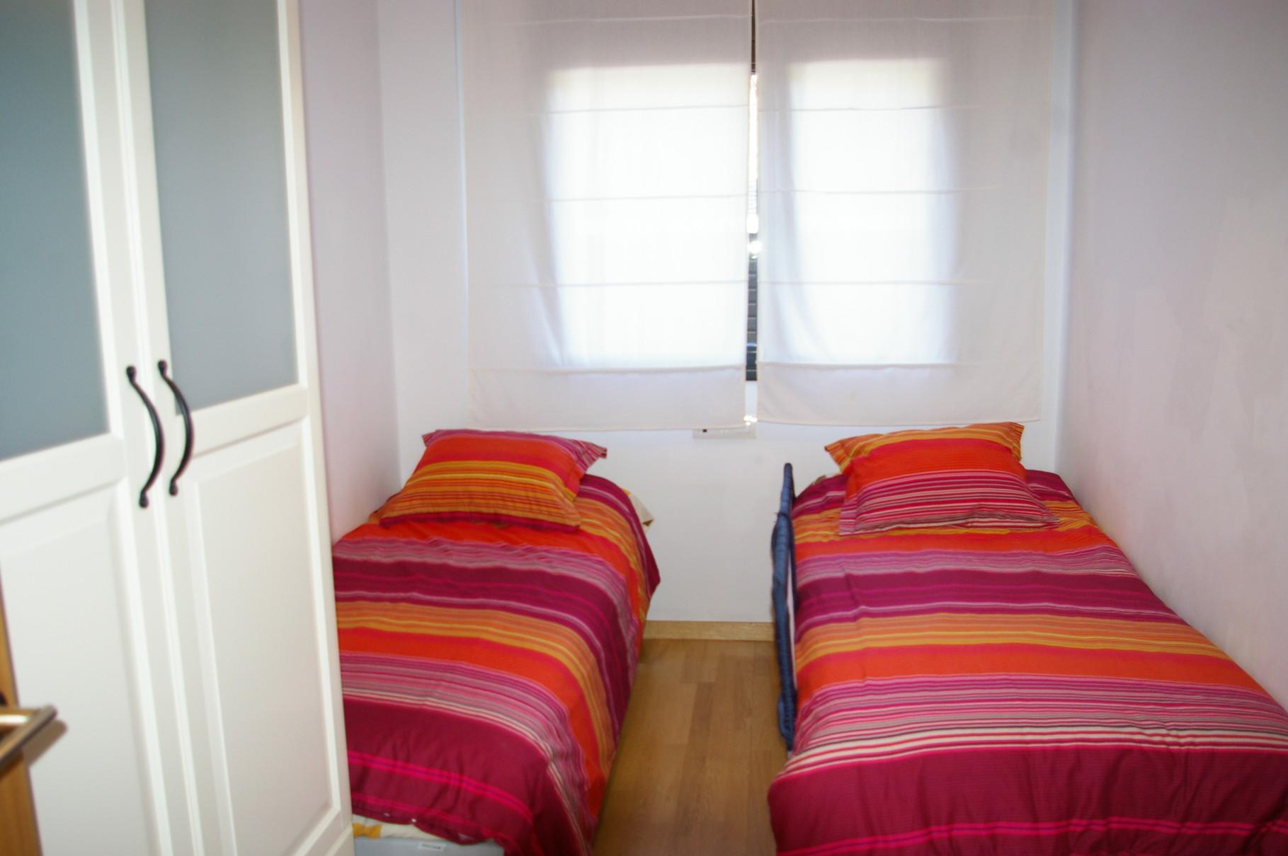 Dormitorio, dos camas individuales