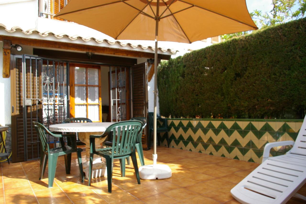 Terrasse, jardin, maison