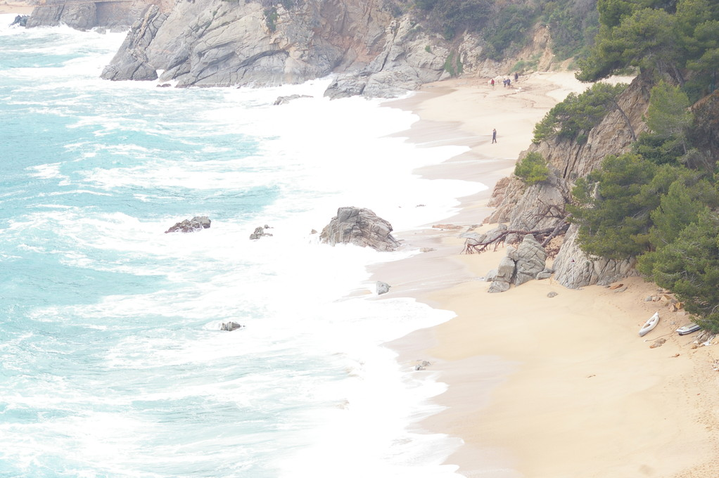 """Playas de """"Santa María de Llorell""""del apartamento Aqua 9, en el """"alquiler de vacaciones en la Costa Brava"""""""