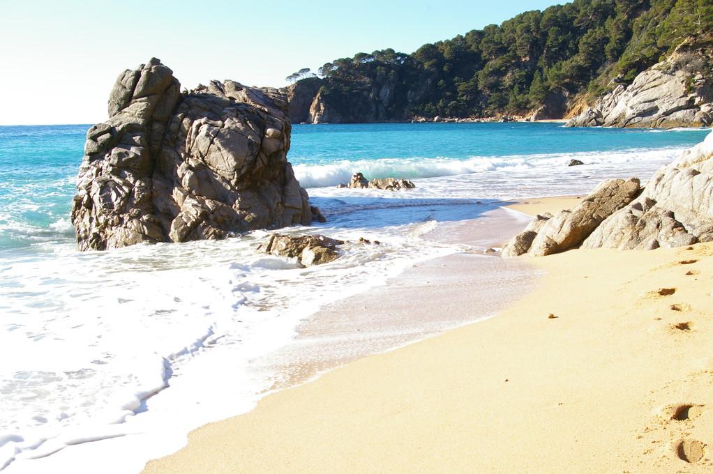 Belle photo de la plage de Santa Maria.