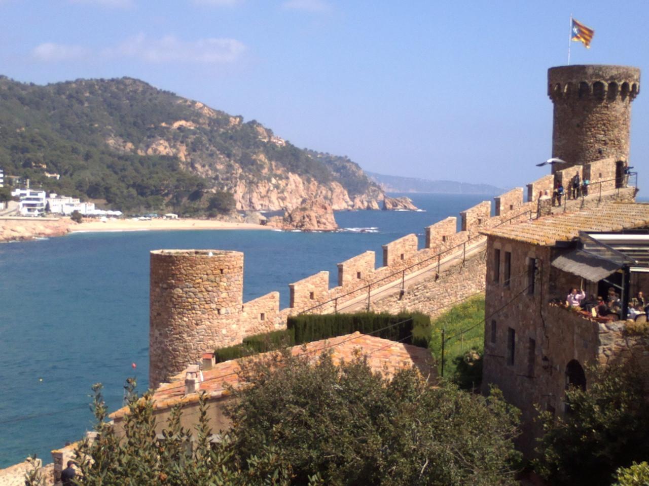 Vistas con el castillo de Tossa de Mar