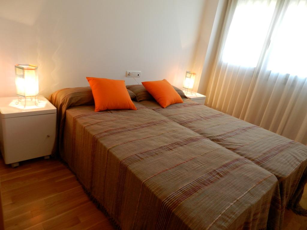 Dormitorio del apartamento en Tossa