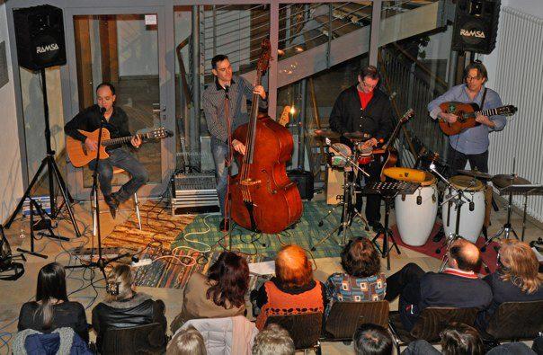 Mal im Quartet mit Werner Silzer.