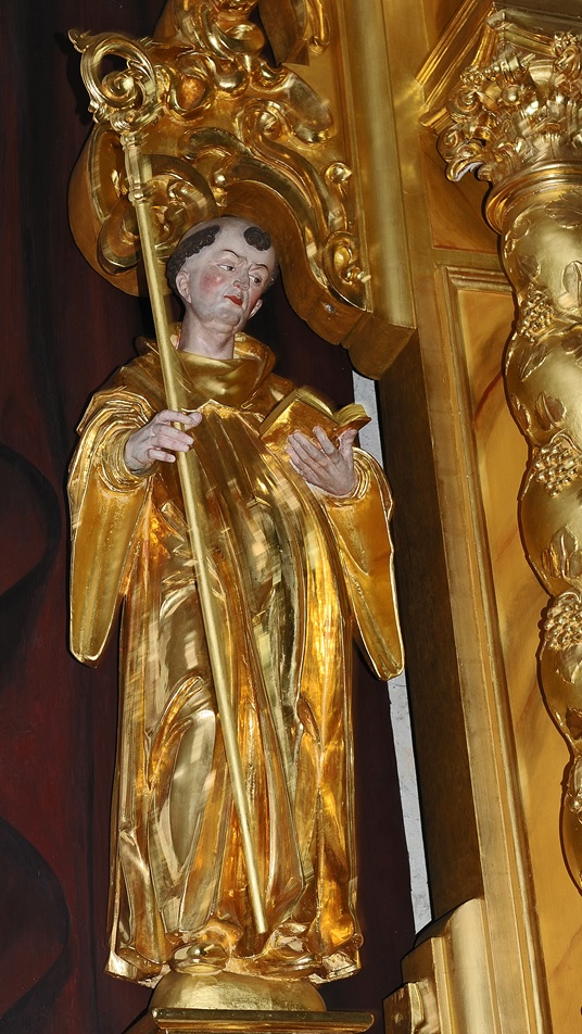 Sankt Fridolin in der Galluskapelle im Chorherrenstift Beromünster (Foto: Karl Braun)
