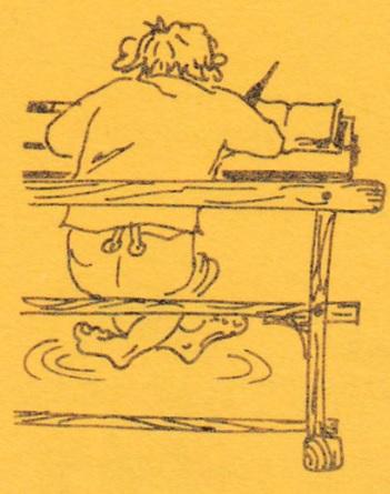 """Skizze aus meiner Schrift """"Klassenzusammenkumpft des Jargangs 1939, Kleine Näflesser Chronick der ersten sex Schuljare (1946 bis 1952), Herpst 1978, 20 Seiten. Skizze, Eigenbrand"""