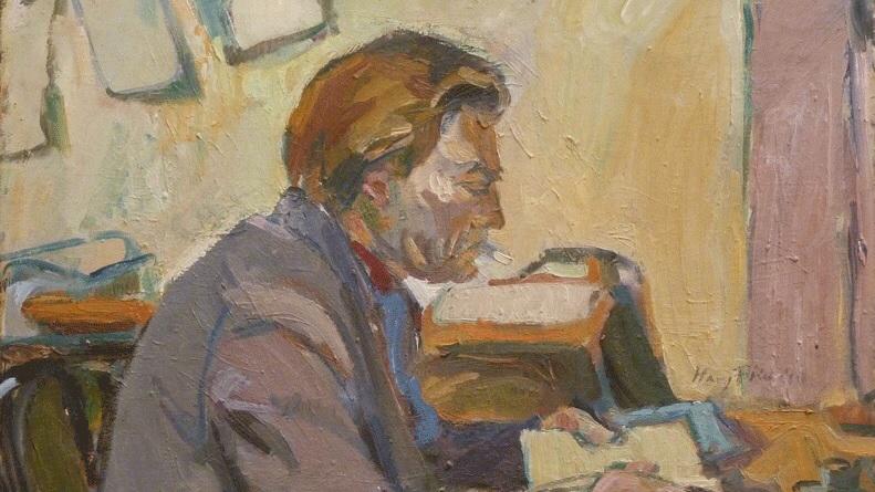 """Hanny Fries """"Ludwig Hohl, Génève"""" 1944, Öl auf Leinwand. (Bild: Stiftung Hanny Fries und Benno Blumenstein),, Zürich)"""