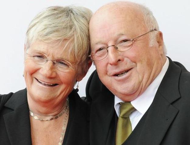 Erinnerungsbild aus glücklichen Tagen: Dr. Norbert und Marita Blüm