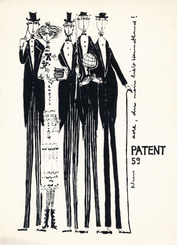 Patent 59. Nun ade meine Heimatland!