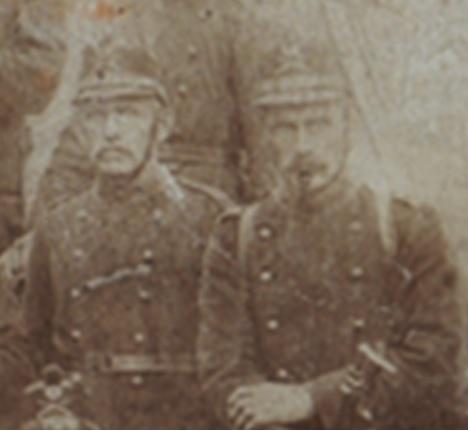 Die Brüder Fridolin (links, mein Vater) Jahrgang 1879 und Joseph Jahrgang 1878.