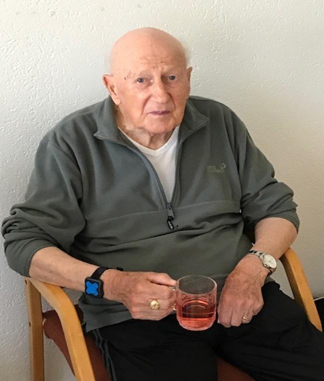 Albert Gallati , wenige Wochen vor seinem Tod. (Foto: Br. Raymund (Paul) Gallati OFMCap, Olten)
