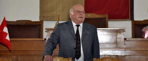 Minister Blüm referiete 2009 im Rathaus  Glarus (Foto_ Markus Hauser)