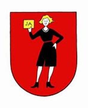 """Frauenzentrale: Wappen der """"Fridolina"""". Das """"Fridolina""""-Logo stammt von Esther Angst."""