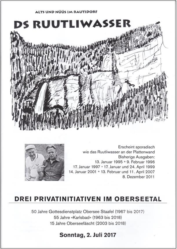 "Titelblatt des ""Ruutliwasser"" 2017"