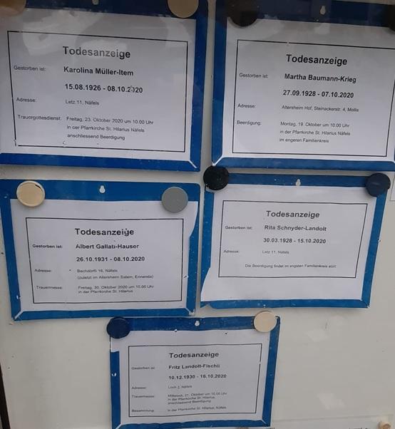 Kirchenkästchen Todesanzeigen (Foto: Agi  Fischli)