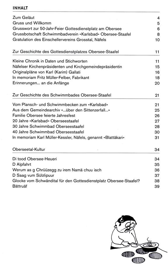 """Inhaltsverzeichnis """"Ruutliwasser 2017"""""""