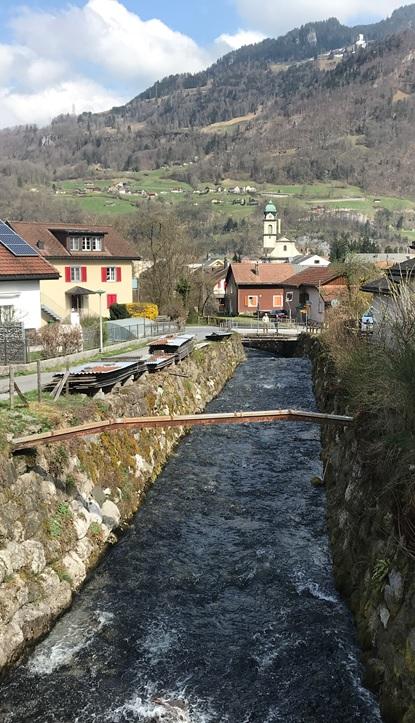 Rauti zwischen oberer und unterer Rautbrücke