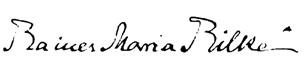 Autogramm Rainer Maria Rilke (1875-1926)