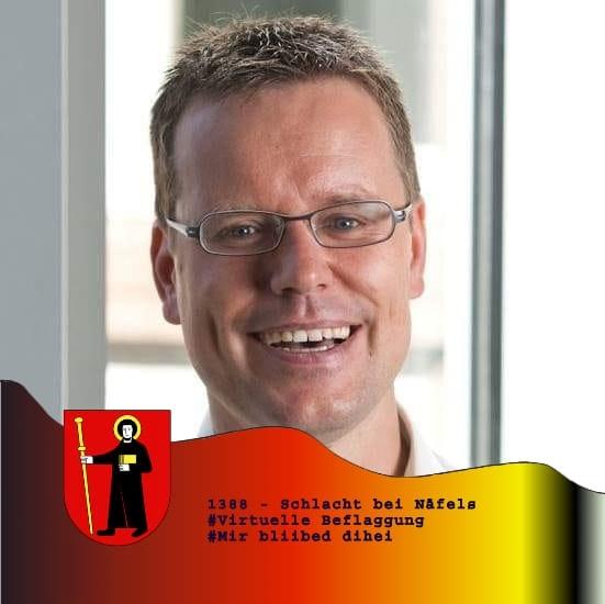 Christian Marti, Gemeindepräsident Glarus (Mitte) kopiert von facebook 30.3.2020
