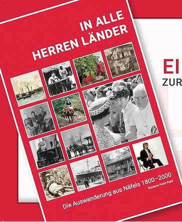 Titelblatt des eben erschienenen Buches zur Auswanderung aus Näfels (Quelle: FGN)
