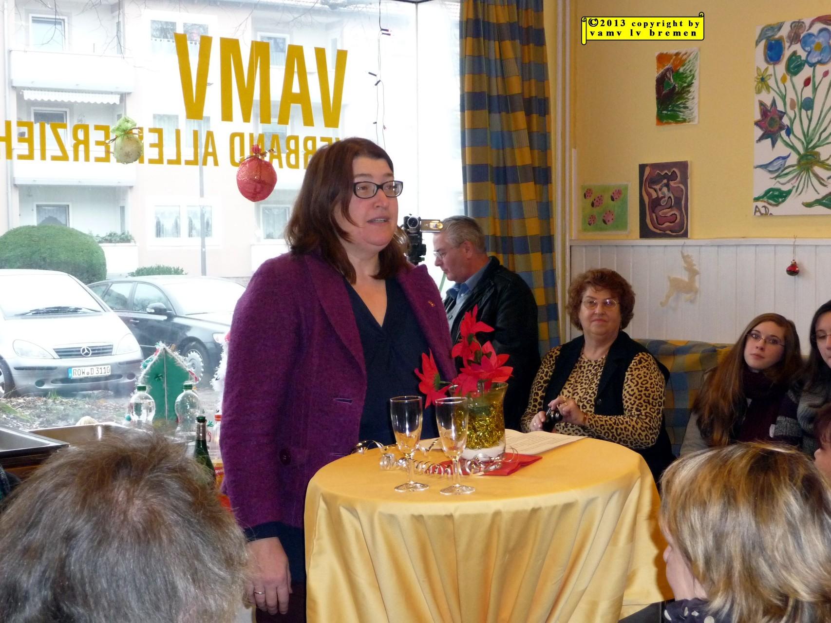 Feier für Gisela und jens e. Ansprache von Senatorin Frau Stahmann