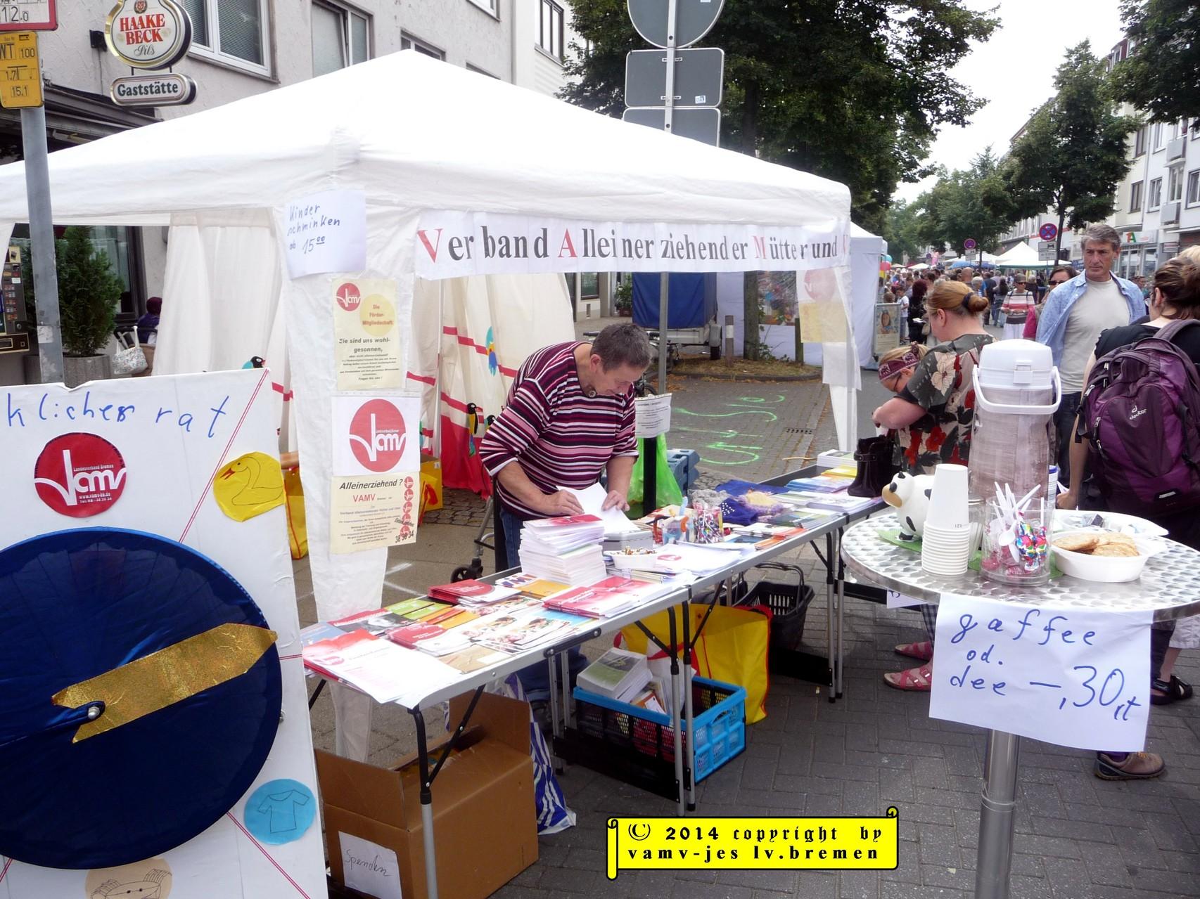 Infostand Stadtteilfest Walle 2014