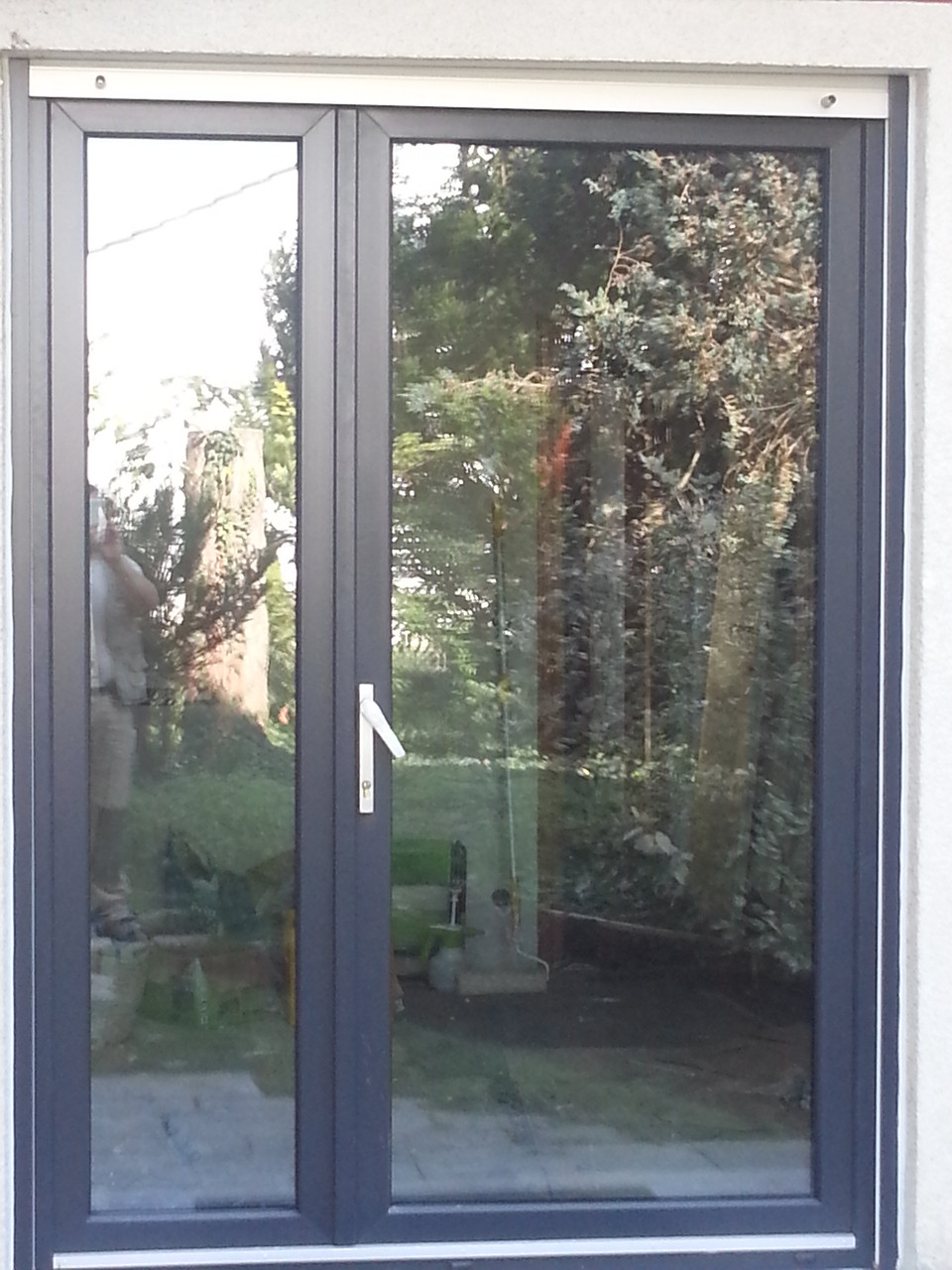 Fenster-Türe Kunststoff anthrazit