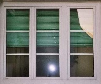 Fenster-Kunststoff weiß m. Sprossen