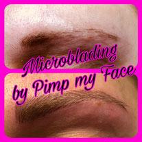 Natürliche Augenbrauen Härchenzeichnung mit Microblading bei Pimp my Face in Hamburg Bramfeld - Schulungen