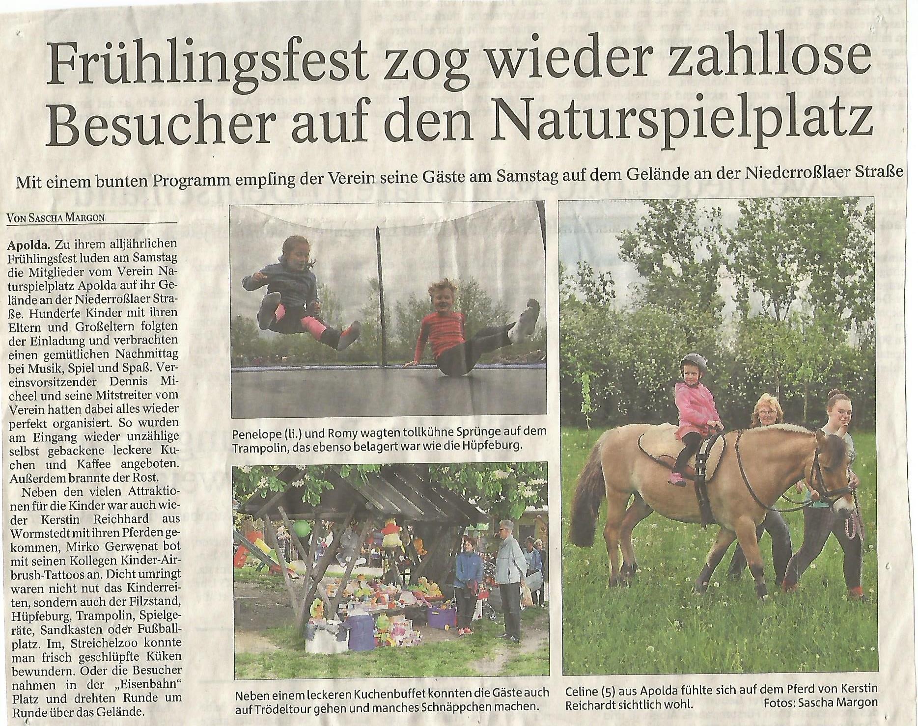 Thüringer Allgemeine vom 09.05.2016