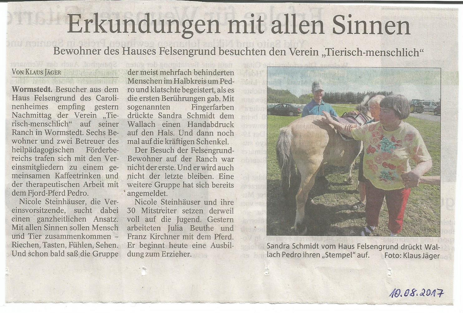 Thüringer Allgemeine vom 10.08.2017