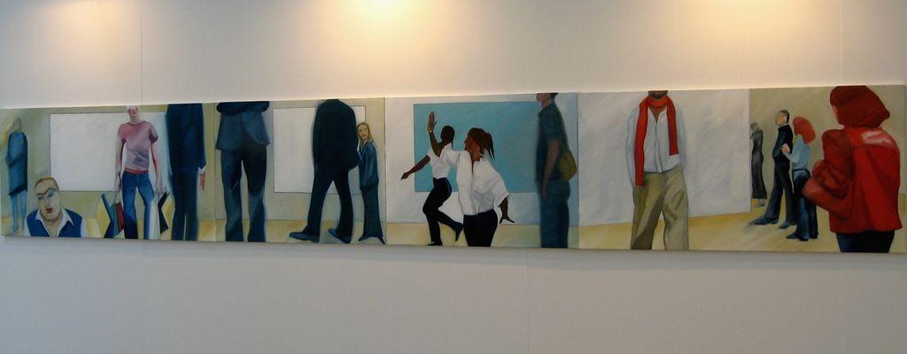Menschenbilder, Öl auf Leinwand, 100 x 670 cm