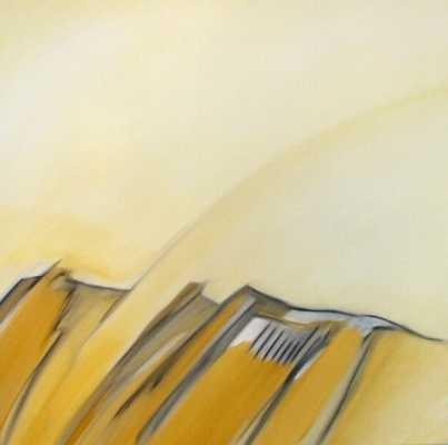 Landschaft, Öl auf Leinwand, 90 cm x 90 cm