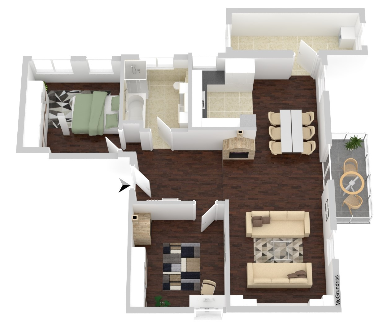 Wohnung Nr. 5 (109,87 m²)