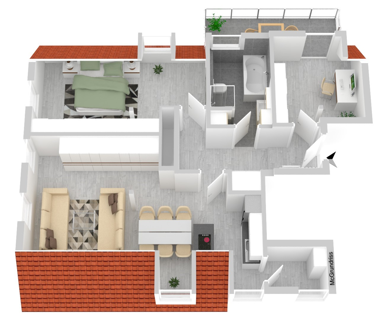 Wohnung Nr. 6 (92,99 m²)