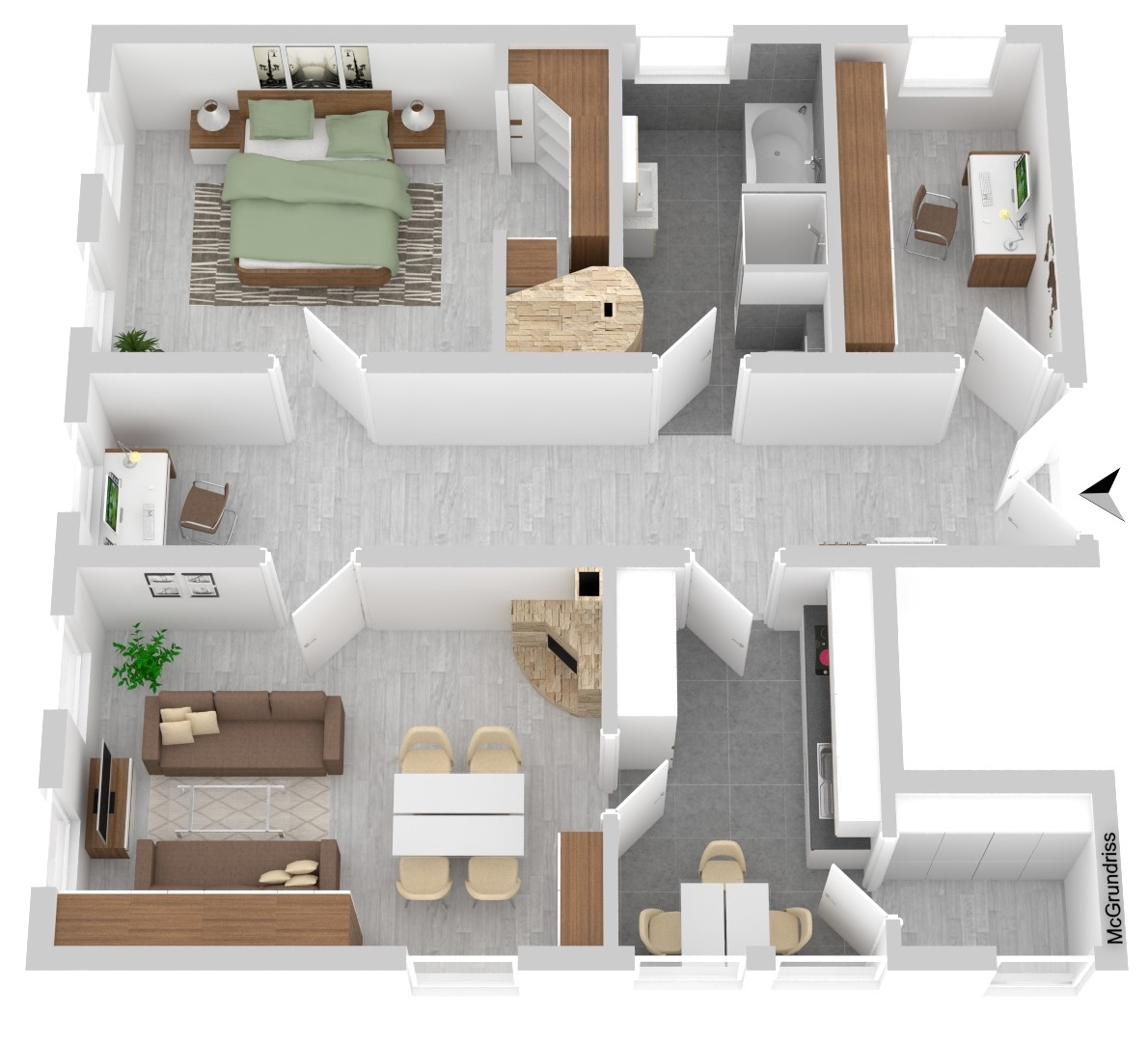 Wohnung Nr. 2 (96,08 m²)