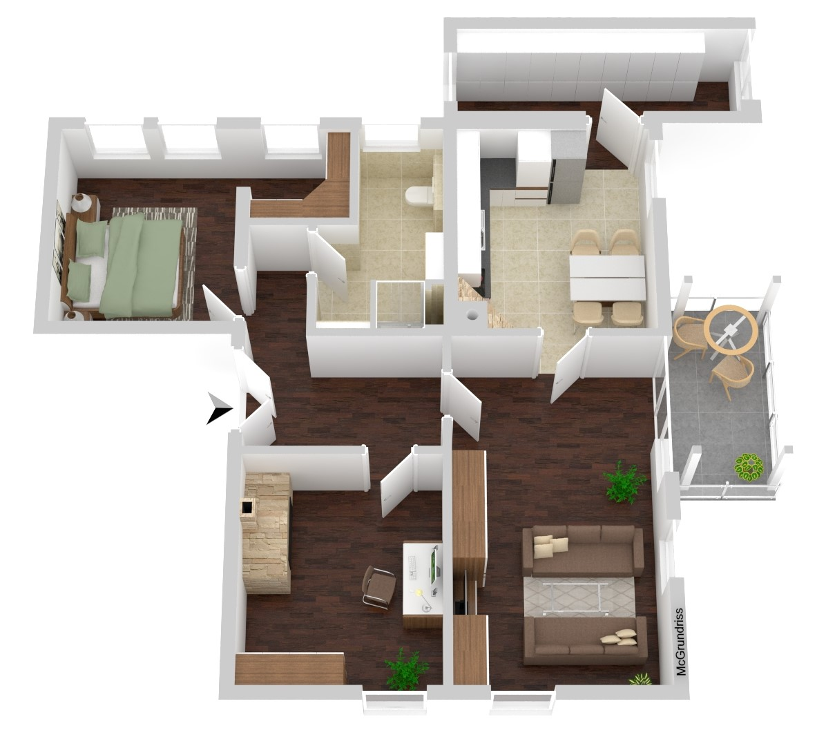 Wohnung Nr. 3 (96,71 m²)