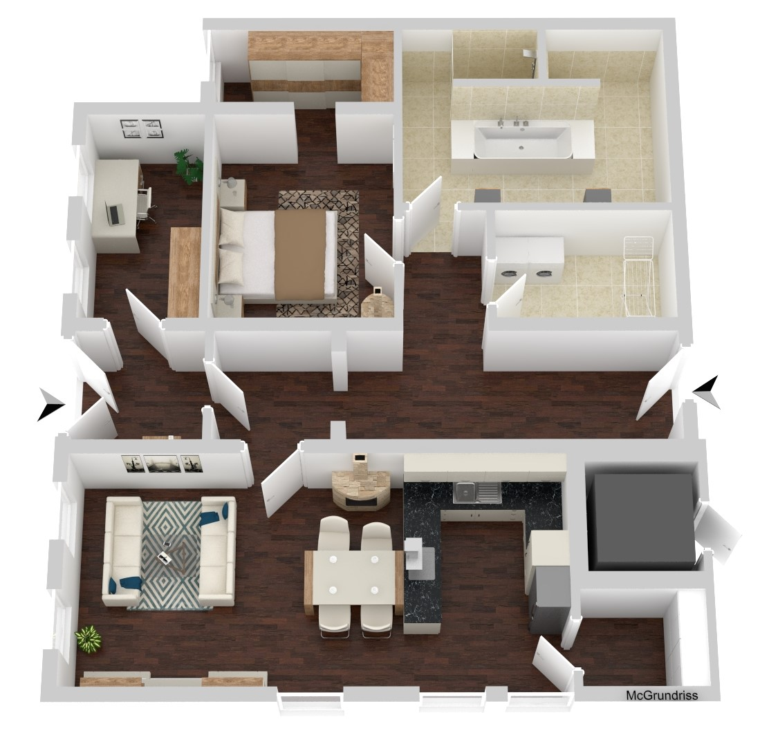 Wohnung Nr. 1 (107,07 m²)