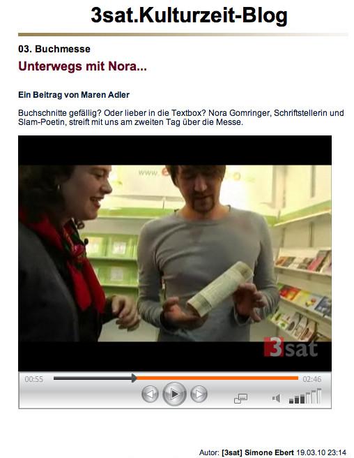 """blog.zdf.de/3sat.Kulturtube"""
