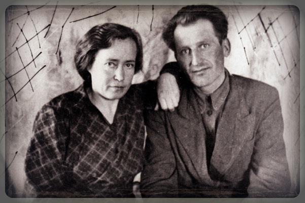 Meine Eltern – Ida und Jakob Schütz – in etwas ruhigeren Zeiten (1950?)