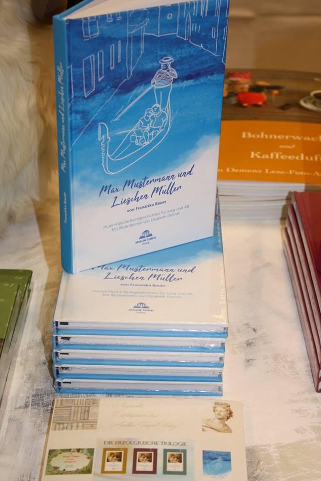 """Buchmesse BuchBerlin 2018, Apollon Tempel Verlag, """"Max Mustermann und Lieschen Müller"""" von Franziska Bauer"""
