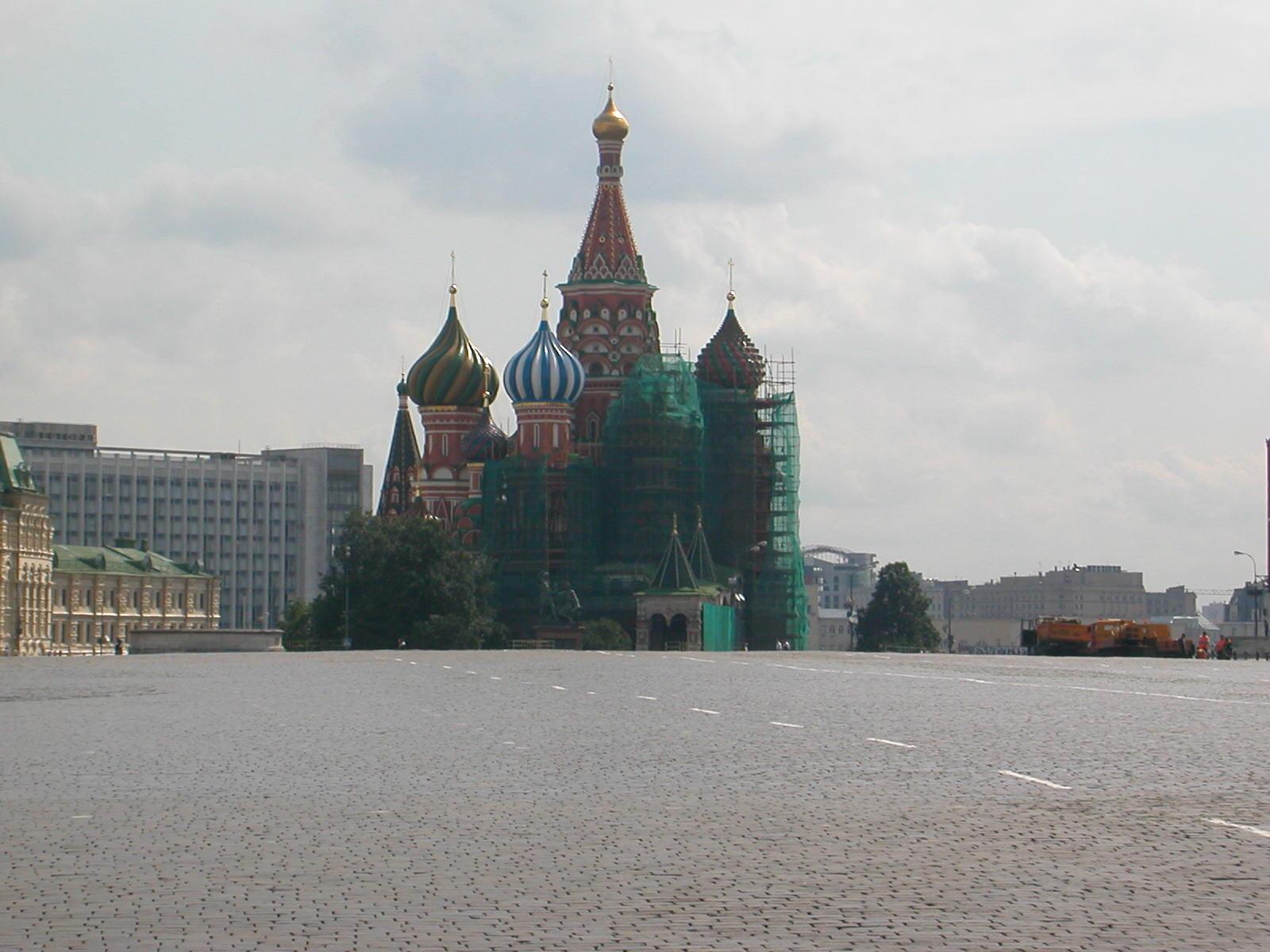 Auf dem Roten Platz, die Basilius-Kathedrale