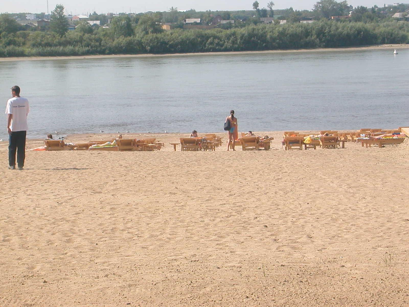 Und das isr der private Bereich des Strandes ...