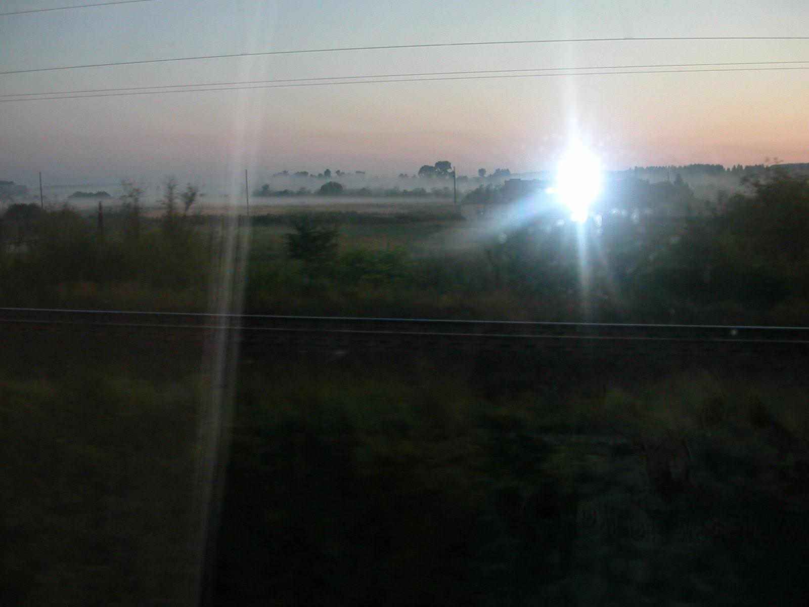 Aus dem Zug ... Sonnenuntergang