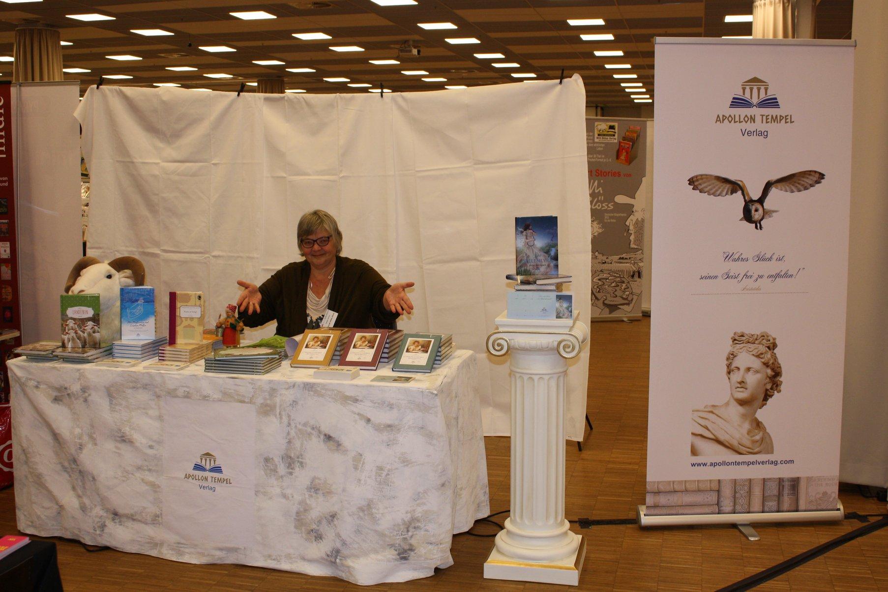 Buchmesse BuchBerlin 2018, Apollon Tempel Verlag, Barbara Buchner