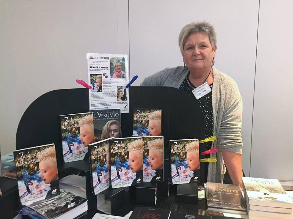 Buchmesse BuchBerlin 2018, Karina-Verlag, Autoren-Stunde Renate Zawrel