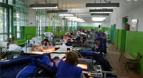 Nähfabrik Nr. 1 in Moskalenki (spätere Aufnahme)