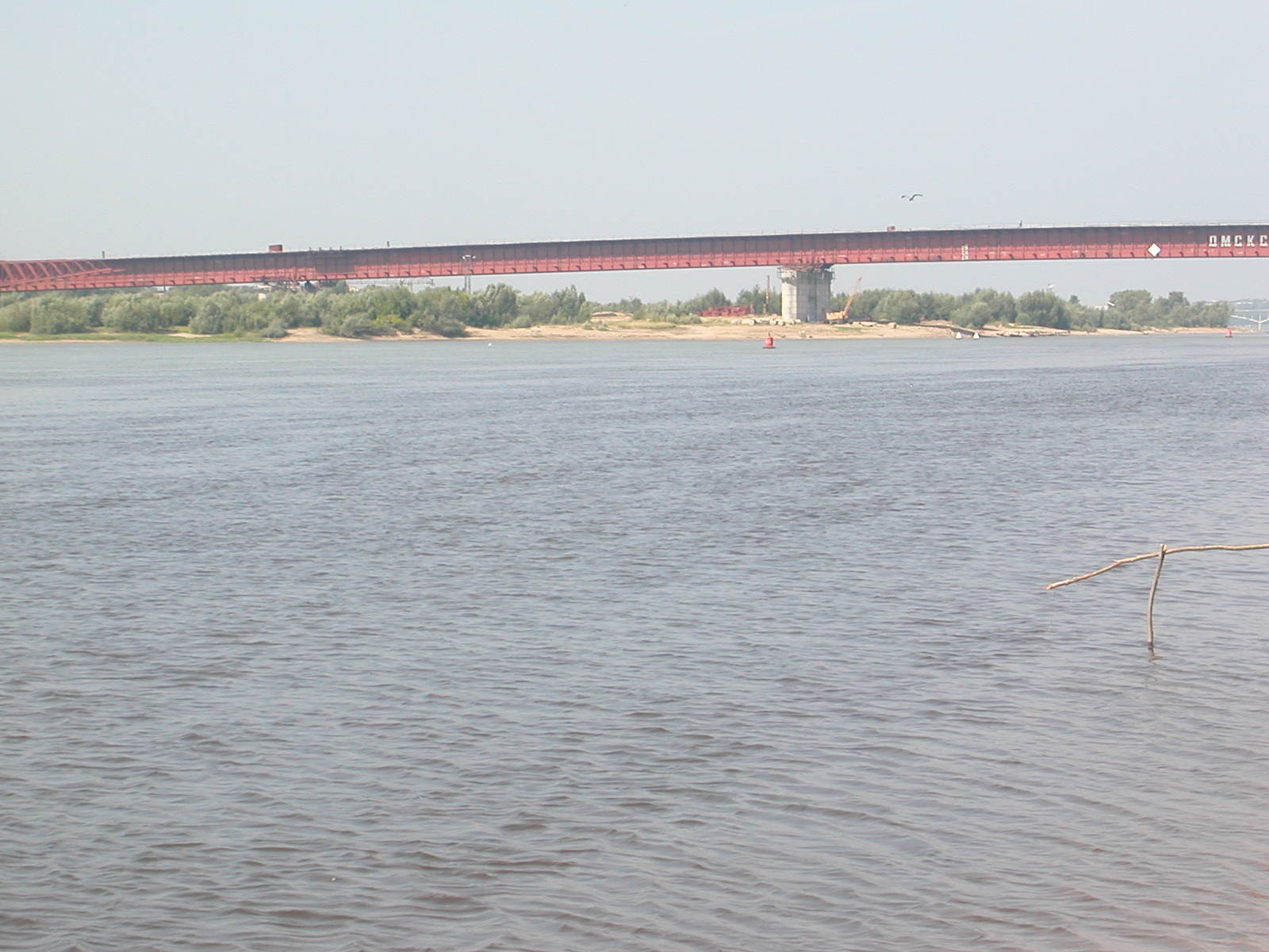 Die Brücke über Irtysch, als Teil der zukünftigen U-Bahn, oder wie die Russen sagen würden: die Metro