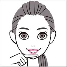 小学館『美的』特集・美顔 イラスト 女性 2色 美容イラスト