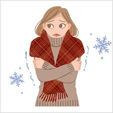 温活イメージ、冷え症の女性イラスト