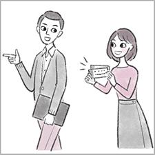 大和出版『アスペルガータイプの夫と生きていく方法がわかる本』カサンドラ症候群 イラスト 2色
